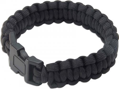 Paracord Survival Bracelet, Black, UC-2763