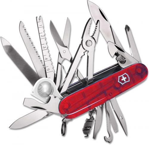 Victorinox Knives: Victorinox SwissChamp Knife, Translucent Ruby, VN-53506