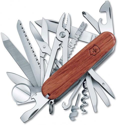 Victorinox 53526 SwissChamp 33 Function Multi Tool with Hardwood Handle