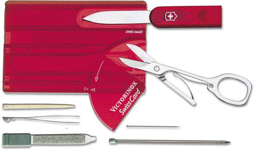 Victorinox SwissCard, Translucent Ruby, VN-53927