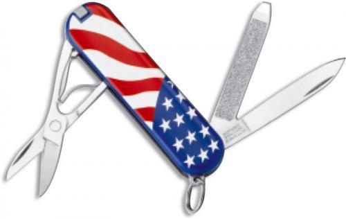 Victorinox Knives: Victorinox Classic SD Knife, U. S. Flag, VN-54216