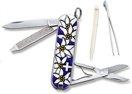 Victorinox Knives: Victorinox Classic Edelweiss Knife, Purple, VN-54722