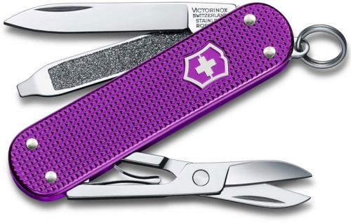 Victorinox Classic SD Knife, Limited Orchid Violet Alox, VN-6221L16