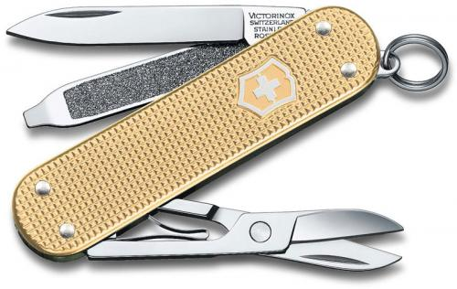 Victorinox 0.6221.L19 Classic SD Knife Limited Edition Champagne Gold Alox 5 Function Multi Tool