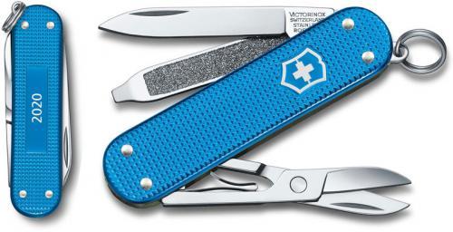 Victorinox Classic SD Knife - Limited Edition Aqua Blue Alox - 5 Function Multi Tool - 0.6221.L20