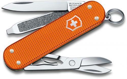 Victorinox Classic SD Knife - Limited Edition Tiger Orange Alox - 5 Function Multi Tool - 0.6221.L21