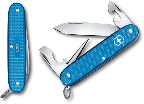 Victorinox Pioneer Knife - Limited Edition Aqua Blue Alox - 8 Function Multi Tool - 0.8201.L20