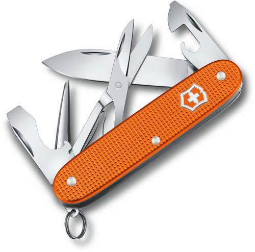 Victorinox Pioneer X Knife - Limited Edition Tiger Orange Alox - 5 Function Multi Tool - 0.8231.L21