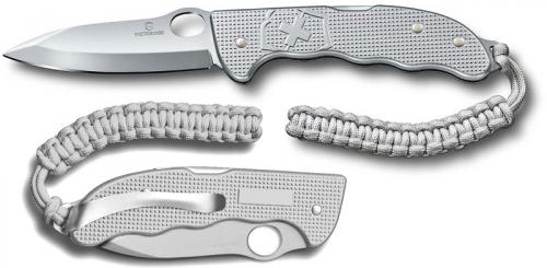 Victorinox Hunter Pro M Alox 0.9415.M26, Drop Point Blade, Silver Alox Lockback Folder