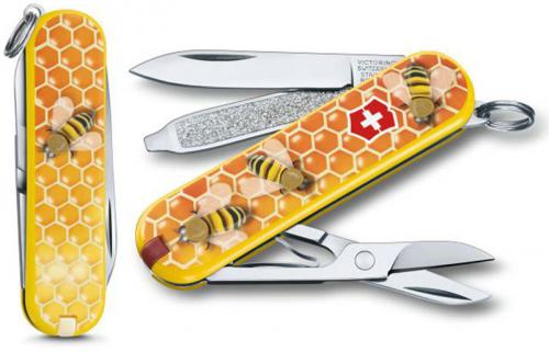 Victorinox 0.6223.L1702US2 Classic SD Limited Edition Honey Bee 7 Function Multi Tool