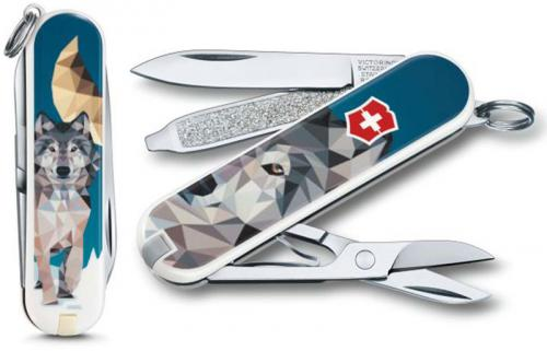 Victorinox 0.6223.L1704US2 Classic SD Limited Edition The Wolf is Coming Home 7 Function Multi Tool