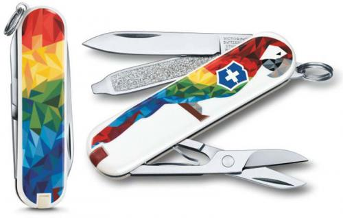 Victorinox 0.6223.L1709US2 Classic SD Limited Edition Guacamaya 7 Function Multi Tool