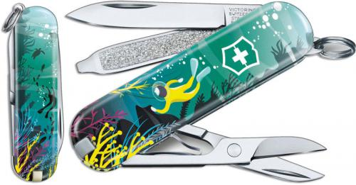Victorinox Classic SD - Limited Edition Deep Dive - 7 Function Multi Tool - 0.6223.L2006