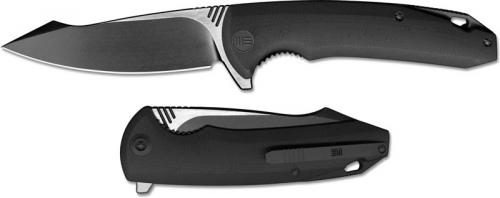 We Knife Company 617A EDC Liner Lock Flipper Folding Knife 2 Tone Blade Black G10 Handle