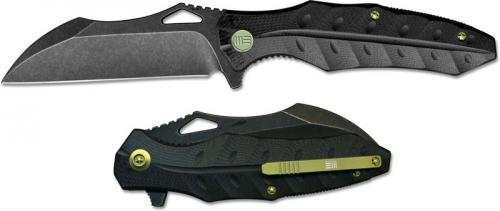 We Knife Company 701E EDC Liner Lock Flipper Folding Knife Black Stonewash Black G10