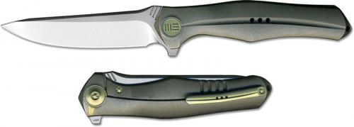 We Knife Company 702A EDC Frame Lock Flipper Folding Knife Integral Gray Titanium Handle