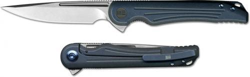 WE Knife 718B Array Simon Crafts EDC Drop Point Frame Lock Flipper Knife Blue Ti