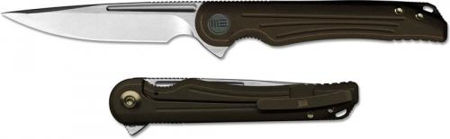 WE Knife 718F Array Simon Crafts EDC Drop Point Frame Lock Flipper Knife Bronze Ti