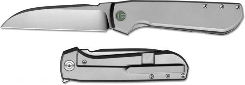 We Knife Company 813A Wasabi Rafal Brzeski EDC Sheepfoot Flipper Folder Matte Titanium Frame Lock