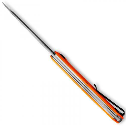 CIVIVI Fracture Knife C2008C - Gray Stonewash Tanto - Orange G10 - Slip Joint Folder