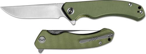CIVIVI Courser Knife C804A - Satin VG-10 Drop Point - Green G10 - Liner Lock Flipper Folder