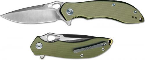CIVIVI Aquila Knife C805B - Satin VG-10 Drop Point - Green G10 - Liner Lock Flipper Folder