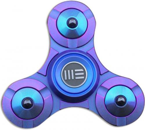 We Knife Company S02A Tri Lobe Fidget Hand Spinner Stress Reliever Blue Titanium