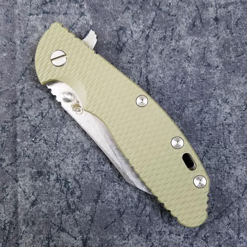 Rick Hinderer XM-24 Knife 4 Inch Wharncliffe OD G10 Stonewash Frame Lock Flipper