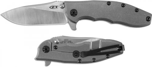Zero Tolerance 0562TI Knife Rick Hinderer EDC Flipper Folder Stonewash Titanium with KVT Opening