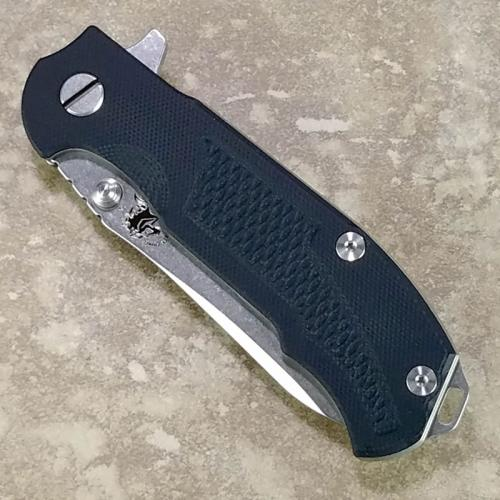 Rick Hinderer MP-1 Knife 3.25 Inch Drop Point HMBS Black G10 Frame Lock Flipper