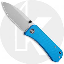 WE Knife Company Banter 2004A - Ben Petersen EDC - Stonewash S35VN Spear Point - Blue G10 - Liner Lock Folder