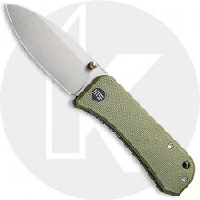 WE Knife Company Banter 2004D - Ben Petersen EDC - Stonewash S35VN Spear Point - Green G10 - Liner Lock Folder