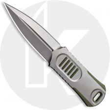 WE Knife Company 2017A OSS Dagger - Justin Lundquist EDC - Stonewash 20CV - Double Edge Fixed Blade Dagger - Stonewash Stainless