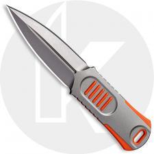 WE Knife Company 2017B OSS Dagger - Justin Lundquist EDC - Stonewash 20CV - Double Edge Fixed Blade Dagger - Stonewash Stainless