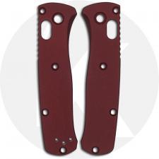 AWT Custom Aluminum Scales - Benchmade Mini Bugout - Type III Hard Coat - NO Lanyard - RH Carry - Brick Red - USA Made