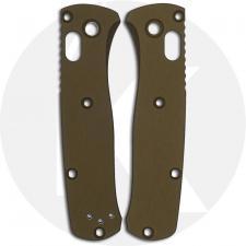 AWT Custom Aluminum Scales - Benchmade Mini Bugout - Type III Hard Coat - NO Lanyard - RH Carry - FDE - USA Made
