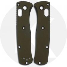 AWT Custom Aluminum Scales - Benchmade Mini Bugout - Type III Hard Coat - NO Lanyard - RH Carry - OD Green - USA Made