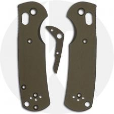 AWT Custom Aluminum Scales for Benchmade Mini Griptilian Knife - OD Green - USA Made