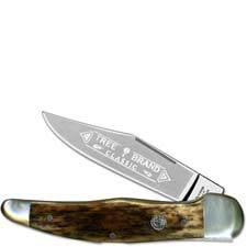 Boker Folding Hunter Knife, Smooth Buckskin Bone, BK-1010BK