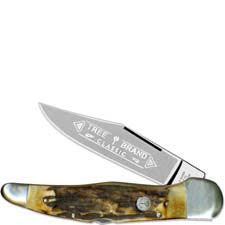 Boker Lockblade Folding Hunter Knife, Stag, BK-1011HH