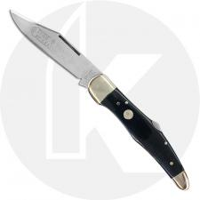 Boker Folding Hunter Lock Blade 111011SGB - Solingen Carbon Steel - Smooth Gray Bone - German Made
