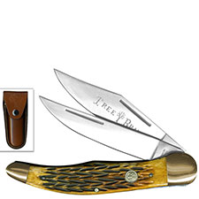 Boker Folding Hunter, Brown Bone, BK-273BB
