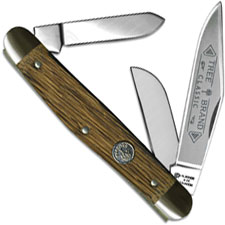 Boker Stockman 117474OT Oak Handle Carbon Steel Traditional Pocket Knife Made in Germany