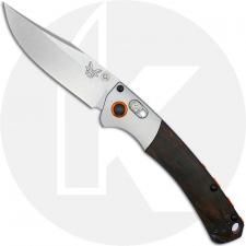 Benchmade 15085-2 Mini Crooked River Clip Point EDC AXIS Lock Folding Knife Wood Handle