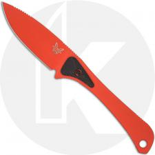Benchmade 15200ORG Altitude Fixed Blade Hunter Orange Drop Point Carbon Fiber G10 Micro Scales