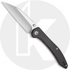 CIVIVI Hadros Knife C20004-1 - Value Price EDC - Satin Wharncliffe - Black Micarta - Liner Lock Folder