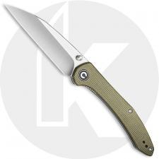 CIVIVI Hadros Knife C20004-3 - Value Price EDC - Satin Wharncliffe - Olive Micarta - Liner Lock Folder