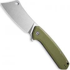 CIVIVI Mastodon Knife C2012A - Stonewash Cleaver Style Blade - OD Green G10 - Liner Lock Flipper Folder