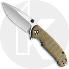 CIVIVI Pintail C2020B - Satin S35VN Drop Point - Olive Micarta - Liner Lock Flipper Folder