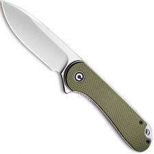 CIVIVI Elementum Knife C907E - Satin D2 Drop Point - Green G10 - Liner Lock Flipper Folder